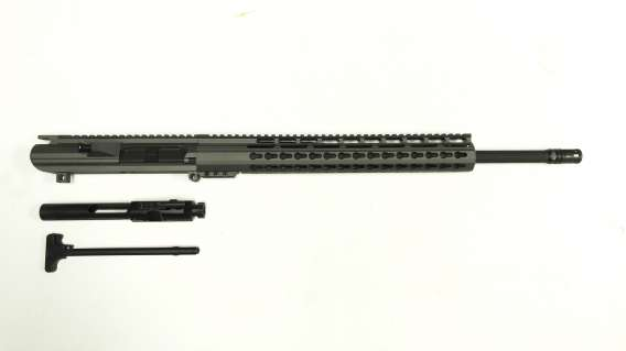 ".308 Cerakote Tungsten Upper Assembly 20"" Phosphate Barrel, Tungsten  Keymod Rail / Assembled"