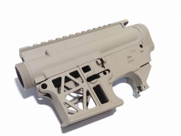 AR-15 Skeleton 80% Lower and Upper FDE