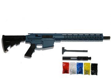 AR-15 Titanium Blue Rifle Kit