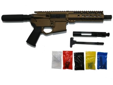 AR-15 Burnt Bronze Pistol Kit