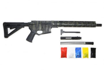 AR-15 Green and Black Tiger Stripes Rifle Kit