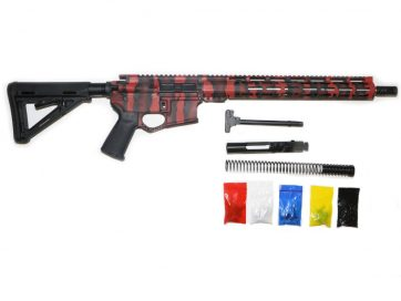 AR-15 Red and Black Tiger Stripes Rifle Kit