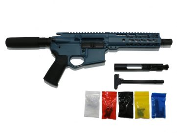 AR-15 Titanium Blue Pistol Kit