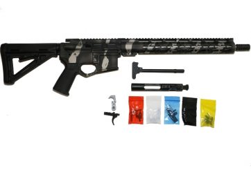AR 15 Tungsten Tiger Stripes Complete Rifle Kit