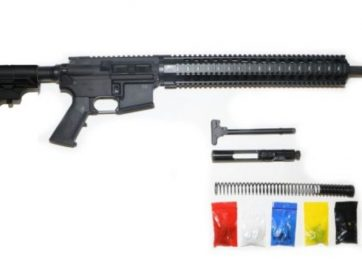 "AR-15 Rifle Kit, 16"" Barrel 12"" Quad Rail with 80% Lower"