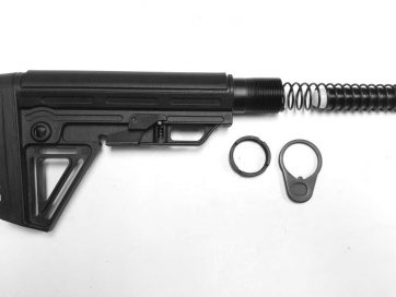 AR-15 Rifle Stock Kit Assembly - Alfa Black