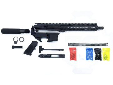 "AR-15 Pistol Kit Assembly 10.5"" Stainless Barrel, 10"" Slim Rail, 80% Lower"